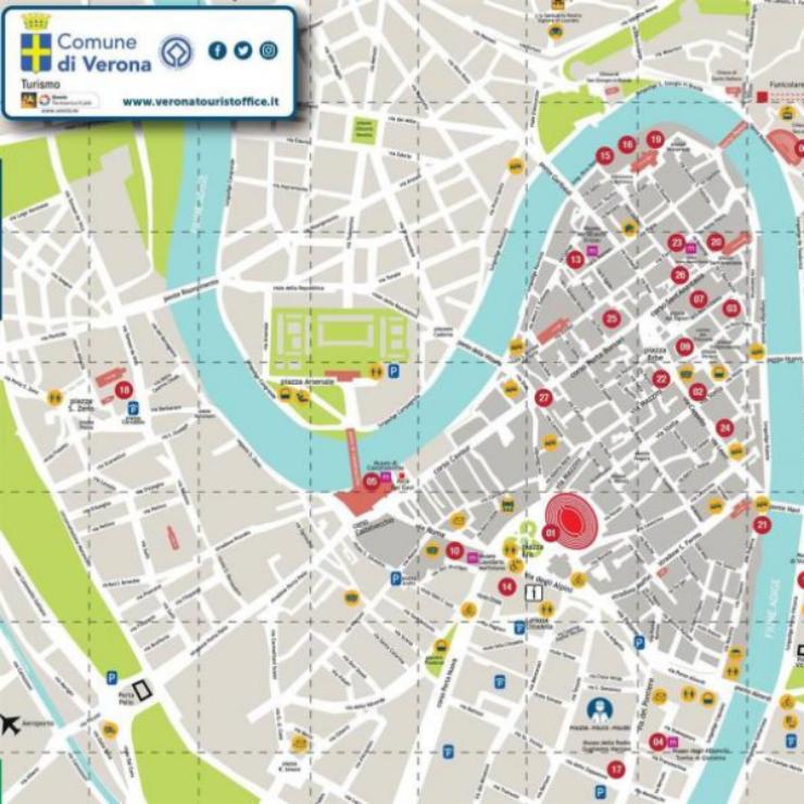 Mappa di Verona